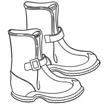 Solid Winter Season Boots to Wear Coloring Page