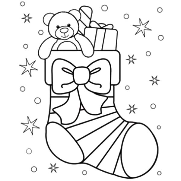 Stary Night Christmas Stockings Coloring Pages