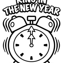 The 1st Ring on 2015 New Year Coloring Page