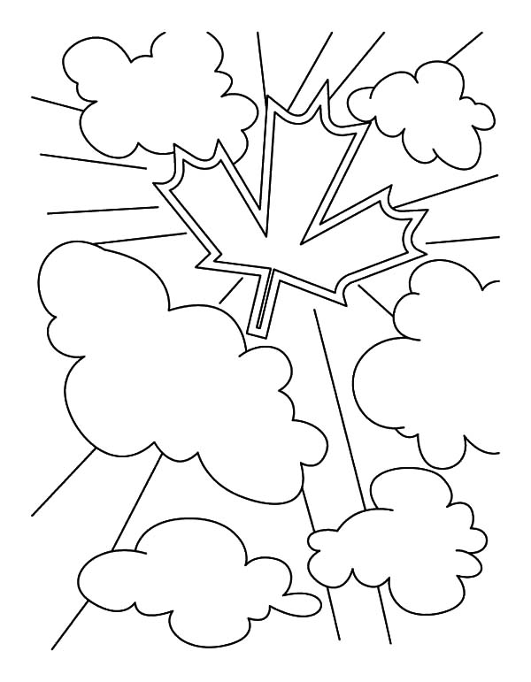 Canada Symbol for Memorable Canada Day Coloring Pages
