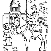 Horse Guard on Memorable Canada Day Coloring Pages
