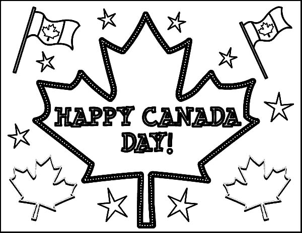 Joyful Celebration on Memorable Canada Day Coloring Pages