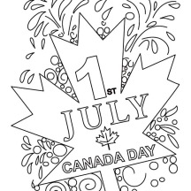 Memorable Canada Day on July 1st Coloring Pages