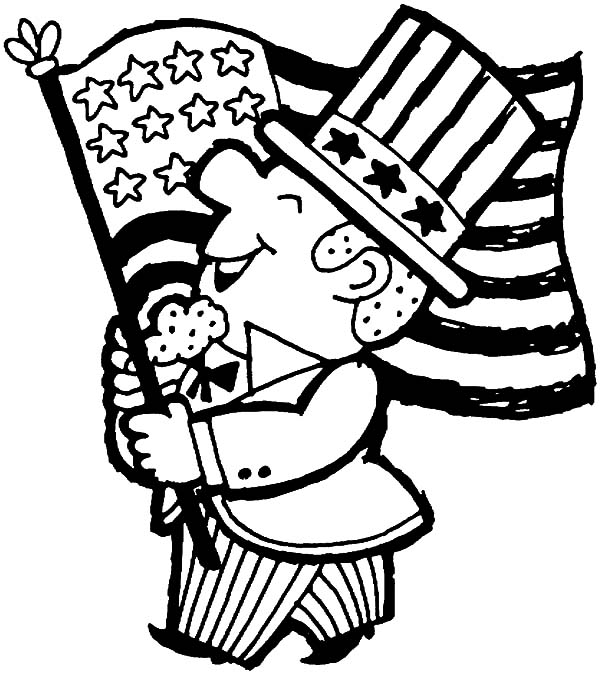 USA Celebrating Independence Day Event Coloring Pages