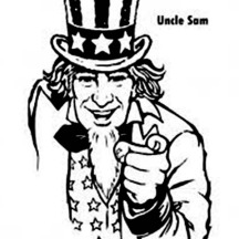 Uncle Sam and Independence Day Event Coloring Page