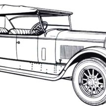 1924 Marmon Old Classic Car Coloring Pages