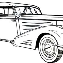 1936 Cadillac Old Classic Car Coloring Pages