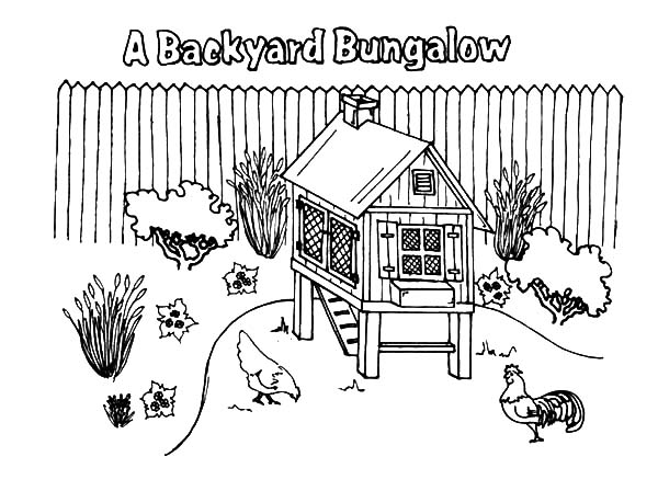 A Backyard Bungalow Chicken Coop Coloring Pages