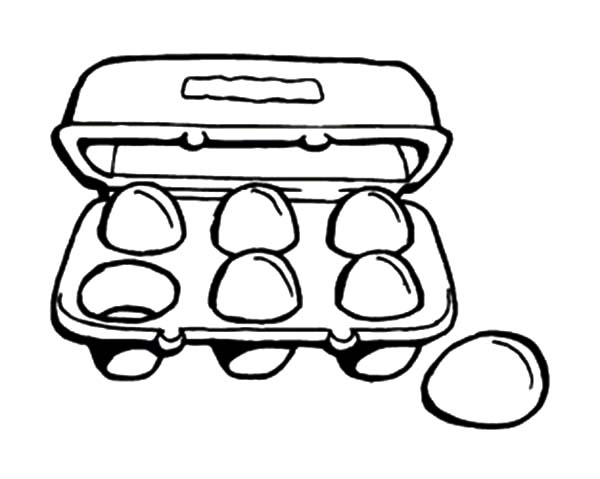 A Cartoon of Chicken Egg Coloring Pages