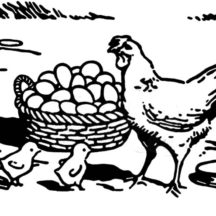 A Large Basket Full of Chicken Egg Coloring Pages