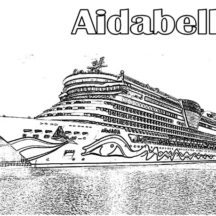 Aidabella Cruise Ship Coloring Pages