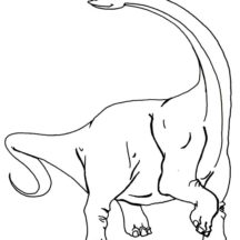 Alpha Male Diplodocus Coloring Pages