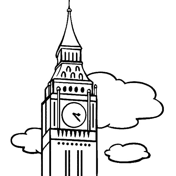 Amazing London Clock Tower Coloring Pages