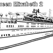 Amazing Queen Elizabeth II Cruise Ship Coloring Pages