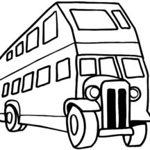 An Antique City Bus Coloring Pages