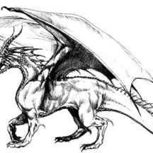 Ancient Creature Chinese Dragon Coloring Pages