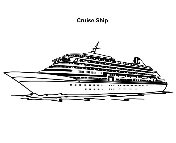 Awesome Experience with Cruise Ship Coloring Pages