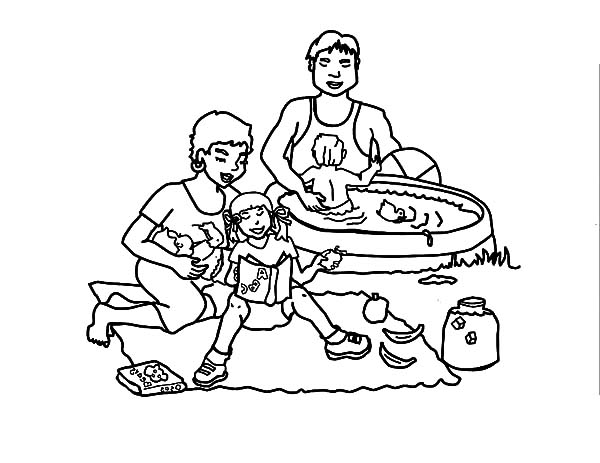 Awesome Family Picnic Coloring Pages