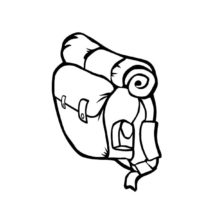 Backpack for Camping Coloring Pages