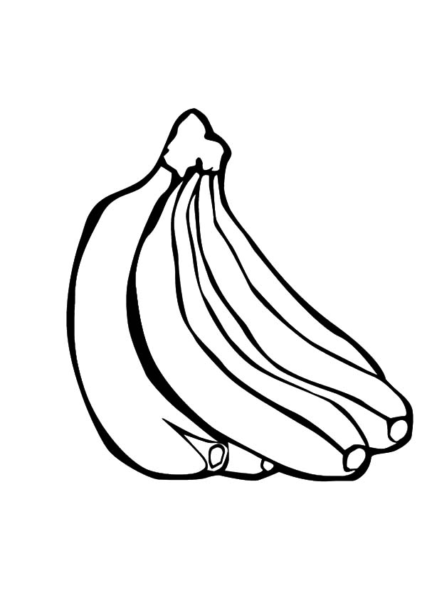 Banana Bunch Coloring Pages for Kids