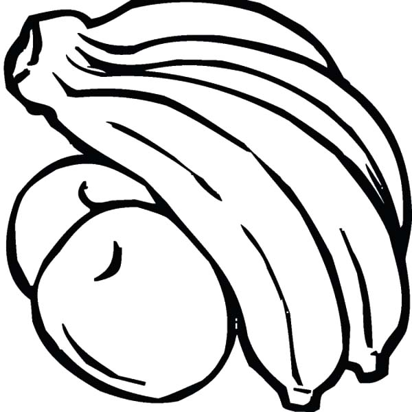 Banana Bunch and Orange Coloring Pages