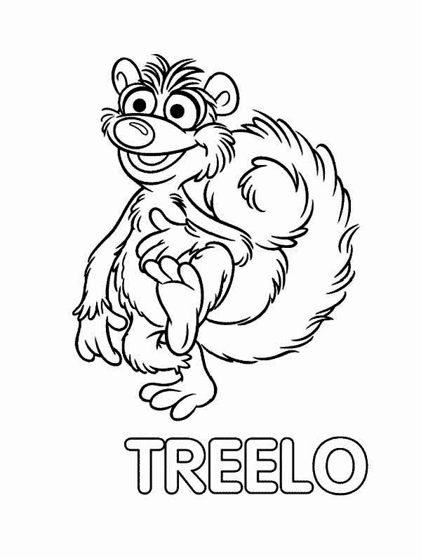 Bear inthe Big Blue House Friend Treelo Coloring Pages