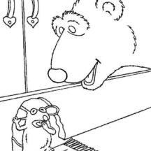 Bear inthe Big Blue House Friend Tutter Just Wake Up Coloring Pages