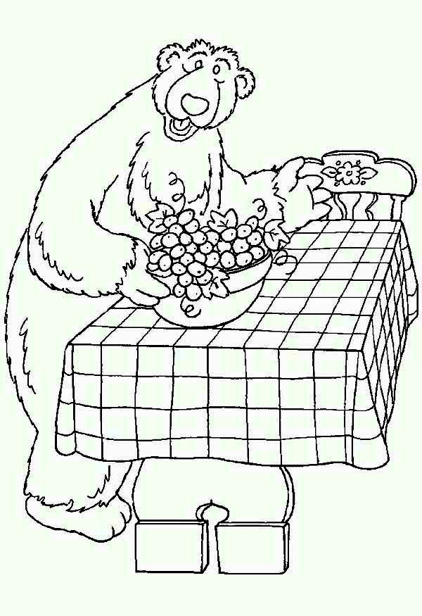 Bear inthe Big Blue House Prepare Dining Table Coloring Pages
