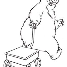 Bear inthe Big Blue House Pulling Carriage Coloring Pages