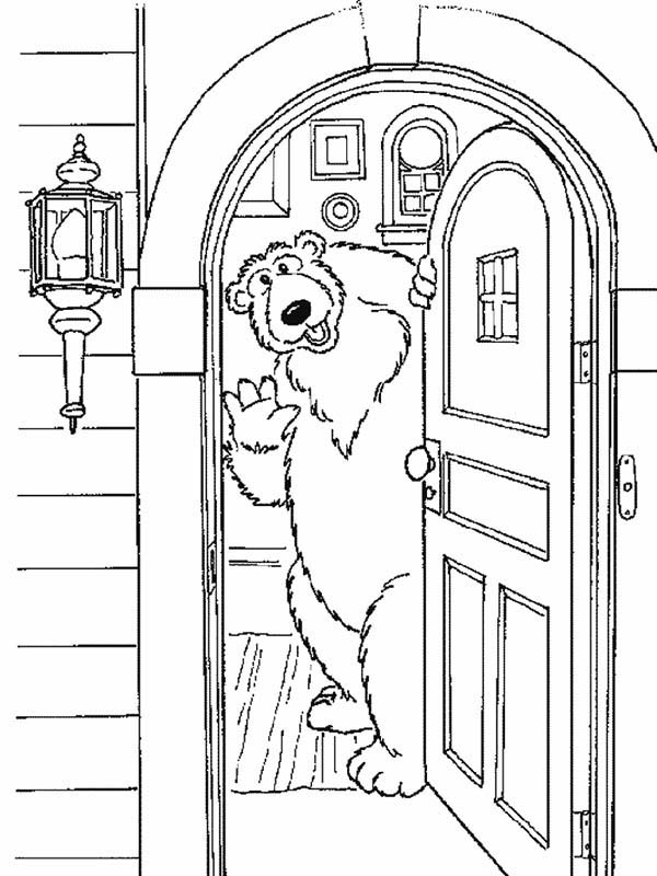 Bear inthe Big Blue House Welcome to My House Coloring Pages