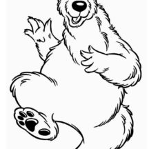 Bear inthe Big Blue House is Happy Coloring Pages