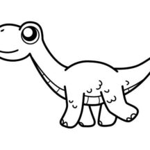 Big Eyed Diplodocus Coloring Pages