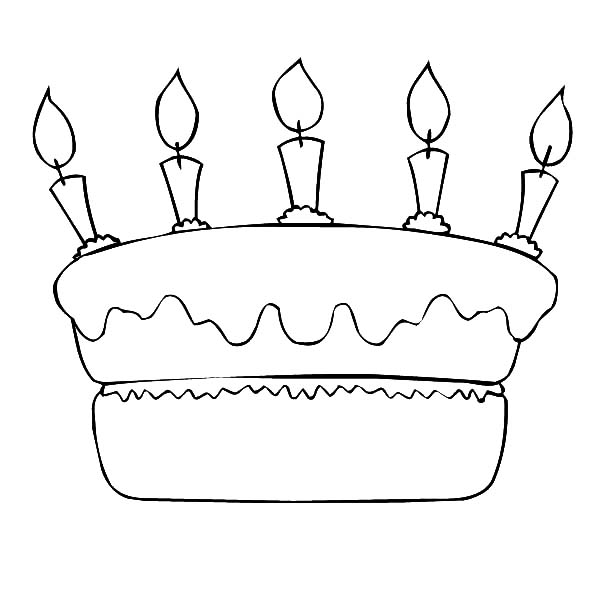 Birthday Cake Coloring Pages for Preschoolers