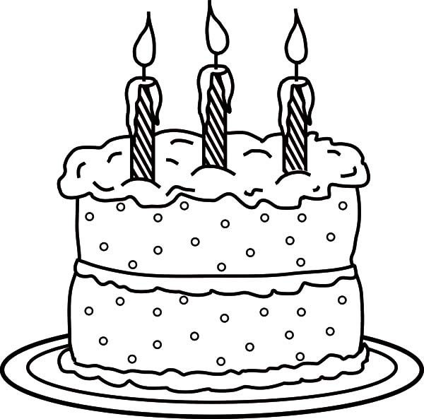 Birthday Cake Picture Coloring Pages