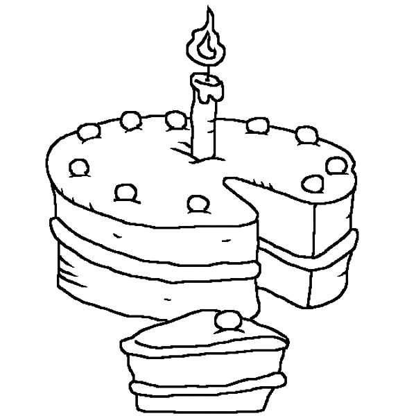 Birthday Candle Coloring Pages for Kids