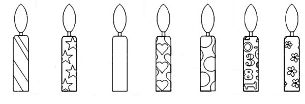 Birthday Candle Coloring Pages