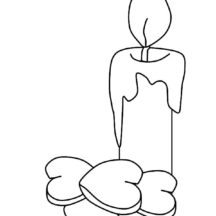 Birthday Candle for Love Ones Coloring Pages