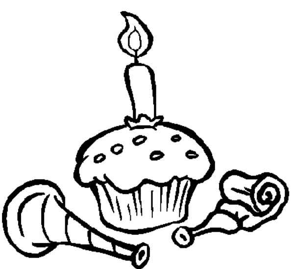 Birthday Cupcakes Coloring Pages