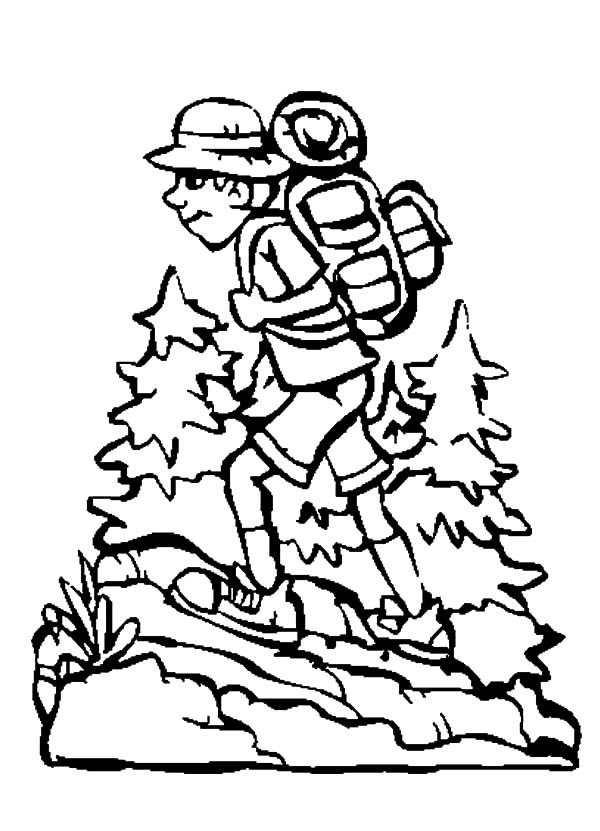 forest hiking trails coloring pages - photo#11