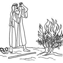 Burning Bush Moses Coloring Pages