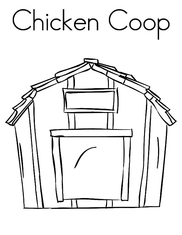 C is for Chicken Coop Coloring Pages