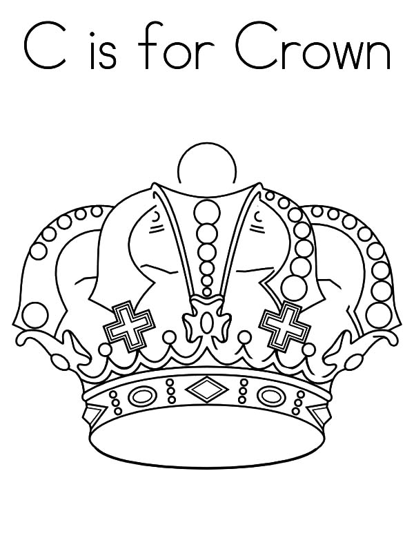 C is for Crown Coloring Pages