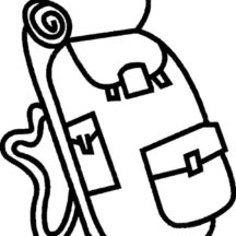Camping Backpack Coloring Pages for Kids