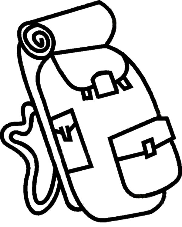 Camping Backpack Coloring Pages for Kids - NetArt