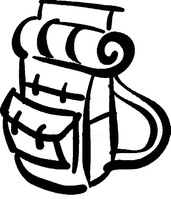 Camping Backpack Coloring Pages