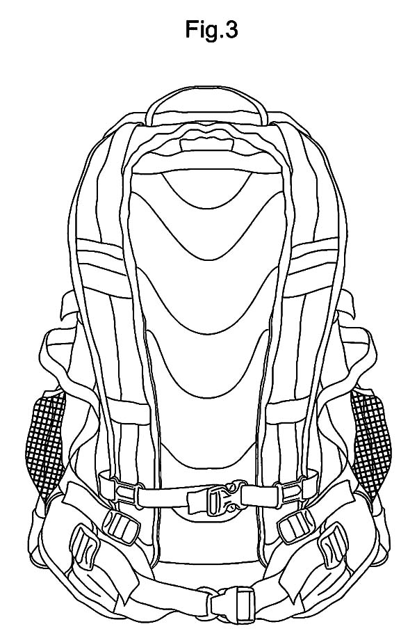 Camping Backpack Picture Coloring Pages