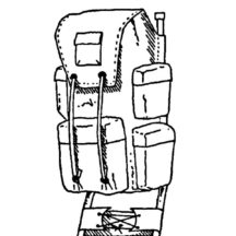 Camping Backpack with Backstand Coloring Pages