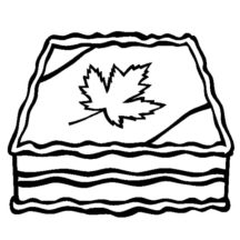 Canada Day Delicious Cake Coloring Pages