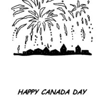 Canada Day Fireworks Coloring Pages