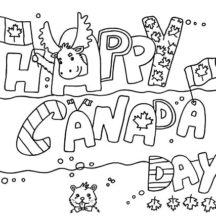 Canada Day Flag Design Coloring Pages